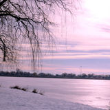 Toronto wysokości park zim nieba 2016 Zdjęcia Royalty Free