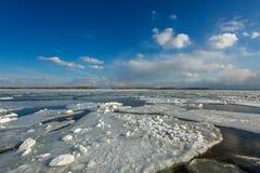 Torontos Cherry Beach durante o inverno Foto de Stock