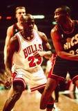 Toros de Michael Jordan Chicago Imágenes de archivo libres de regalías