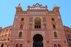 Toros de plaza de Las Ventas de bullring de Madrid Images stock