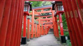 Toros do santuário de Taikodani Inari em Tsuwano Fotografia de Stock Royalty Free