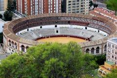 toros för spanjor för plaza för de-lamalaga malagueta Arkivfoto