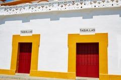 Toros Séville de plaza d'arène de Séville Maestranza Images stock