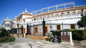 toros seville Испании площади de la maestranza Стоковые Изображения