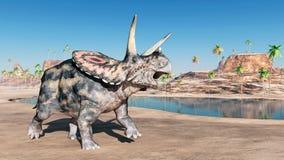 Torosaurus de dinosaure Image libre de droits