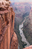 Toroweap Point, Grand Canyon National Park. Colorado river view from Toroweap Point of Grand Canyon National Park royalty free stock photo