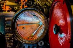 Torpedee el tubo en el submarino Fotos de archivo libres de regalías