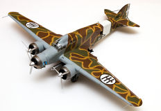 Torpedo Bomber. 1/48 scale plastic model of an Italian torpedo bomber Royalty Free Stock Photography
