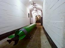 Torpedo en muelle militar Fotografía de archivo libre de regalías