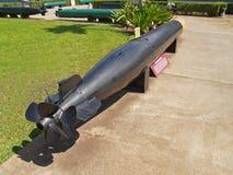 Torpedo negro visualizado en el Pearl Harbor Imagenes de archivo