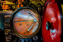 Torpedo pipe into the submarine Royalty Free Stock Photos