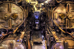 Torpedo Room. The Torpedo room of the second world war submarine Lion Fish in exhibition at the Battleship Cove Museum in Fall River, Massachusetts, USA Stock Photography