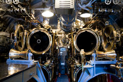 Torpedo Room. The aft torpedo room of the U.S.S. Bowfin in Pearl Harbor, Hawaii Royalty Free Stock Photo