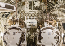 Torpedo room in submarine. Stock Image