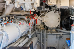 Torpedo room in a submarine Royalty Free Stock Image