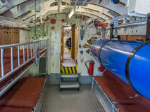 Torpedo room in a submarine Royalty Free Stock Photos