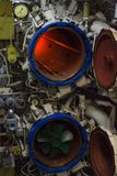 Torpedo room and torpedoes Royalty Free Stock Photo