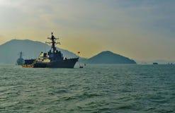 Torpedojagers stock foto's