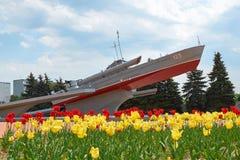 Torpedowej łodzi Komsomolets pomnik Kaliningrad Zdjęcia Stock