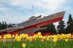 Torpedowej łodzi Komsomolets pomnik Kaliningrad Fotografia Royalty Free