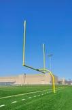 Torpfosten auf amerikanischem Fußballplatz Stockfoto