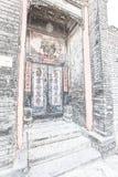Torpfosten-Distichon in Peking Lizenzfreie Stockfotos