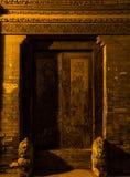 Torpfosten-Distichon in Peking Stockbild
