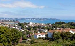 Torquay海岸和海湾从佩恩顿的德文郡英国 库存图片