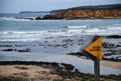 Torquay海浪海滩,维多利亚澳大利亚 库存图片