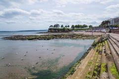 Torquay海滩,英国 库存照片