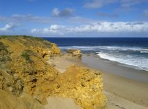 Torquay海滩 免版税库存照片