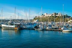 Torquay港口,南德文郡,英国看法  免版税库存图片