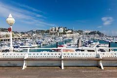 Torquay港口&小游艇船坞德文郡英国英国 免版税库存图片