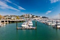 Torquay港口&小游艇船坞德文郡英国英国 库存图片