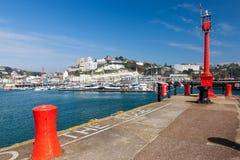 Torquay港口&小游艇船坞德文郡英国英国 免版税库存照片