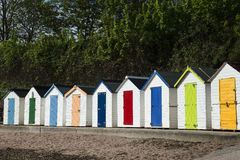 Torquay Beach Huts. Beach Huts at Torquay, Devon, UK Royalty Free Stock Images