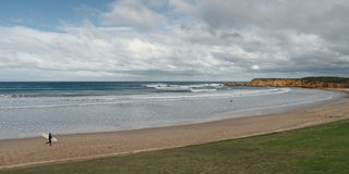 Torquay beach panorama Royalty Free Stock Photos
