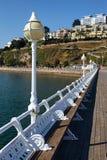 TORQUAY, DEVON/UK - 28 JULI: De Pijler in Torbay Devon op 2 Juli Stock Afbeelding