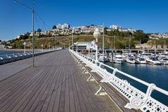 TORQUAY, DEVON/UK - JULY 28 : The Pier in Torbay Devon on July 2. 8, 2012. Unidentified people royalty free stock images