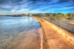 Torquay Devon uk promenade in colourful HDR Stock Image