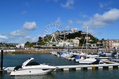 Torquay, the English Riviera, Doven England. Torquay, a seaside resort town on the English Channel in Devon.  Coastline nicknamed: English Riviera .  Photo Stock Photos