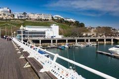Torquay-Hafen u. Marina Devon England Großbritannien lizenzfreie stockfotografie
