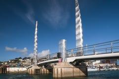 Torquay-Hafenbrücke lizenzfreie stockfotografie