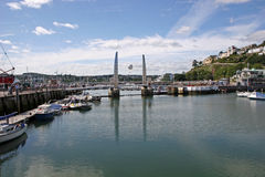 Torquay harbor Stock Photography