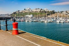 Torquay Harbour & Marina Devon England UK. TORQUAY, UNITED KINGDOM - 7th of May 2016 - Summer at Torquay Harbour & Marina Devon England UK a popular tourist Stock Photography