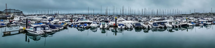 Torquay harbour panorama Royalty Free Stock Photos