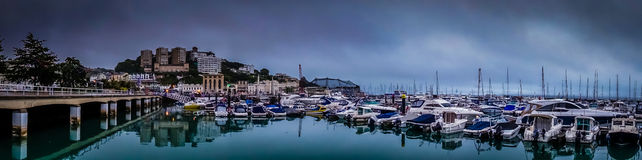 Torquay harbour panorama Stock Photography