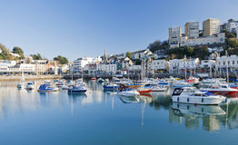 Torquay Inner Harbour. Devon, England on a sunny day Stock Photo