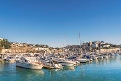 Torquay-Jachthafen auf dem englischen Riviera Stockfoto