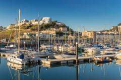 Torquay marina on the English Riviera Stock Photo